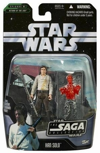 Star Wars Saga 2006 Basic Action Figure #02 Han Solo [White Shirt with Carbonite Block]