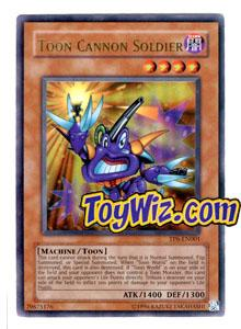 YuGiOh Tournament Pack 6 Single Card Ultra Rare TP6-EN001 Toon Cannon Soldier