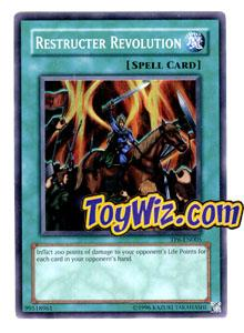 YuGiOh Tournament Pack 6 Single Card Super Rare TP6-EN005 Restructer Revolution