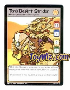 Neopets Trading Card Game Lost Desert Single Card Rare  39/100 Tonu Desert Strider