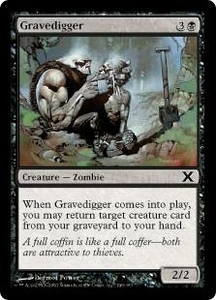 Magic the Gathering Tenth Edition Single Card Common #146 Gravedigger