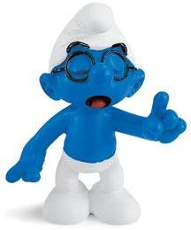 Schleich The Smurfs Mini Figure Brainy