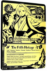Naruto Card Game Tin Promo Single Card Super Black & Gold Rare 372 The Fifth Hokage [Establishment of Medicine]