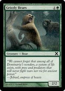 Magic the Gathering Tenth Edition Single Card Common #268 Grizzly Bears