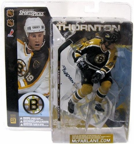 McFarlane Toys NHL Sports Picks Series 2 Action Figure Joe Thornton (Boston Bruins) Black Jersey