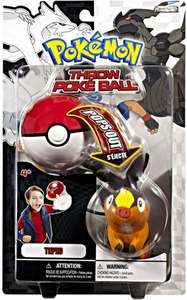 Pokemon Black & White Toy Plush Series 1 Throw Poke Ball Tepig