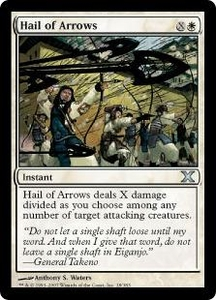 Magic the Gathering Tenth Edition Single Card Uncommon #18 Hail of Arrows