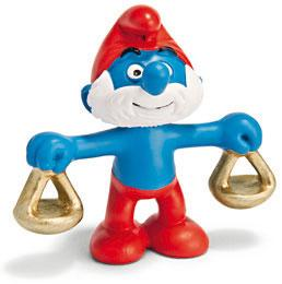 Schleich The Smurfs Mini Figure Libra Papa Smurf