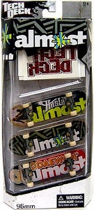 Tech Deck 96mm Skateboard 3-Pack with Stickers Almost [Haslam & Daewon' Song]