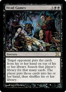 Magic the Gathering Tenth Edition Single Card Rare #148 Head Games