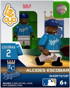 OYO Baseball MLB Generation 2 Building Brick Minifigure Alcides Escobar [Kansas City Royals]