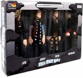 Fall Out Boy Sota Toys Stylized Action Figure 4-Pack [Joe, Andy, Pete & Patrick] Damaged Box, Mint Contents!