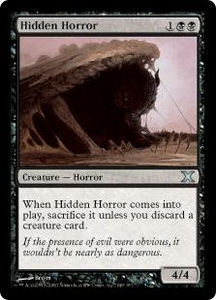 Magic the Gathering Tenth Edition Single Card Uncommon #149 Hidden Horror
