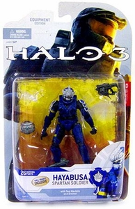 Halo 3 McFarlane Toys Series 4 [2009 Wave 1] Exclusive Action Figure BLUE Hayabusa Spartan Soldier COLLECTOR'S CHOICE!