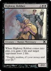 Magic the Gathering Tenth Edition Single Card Common #150 Highway Robber