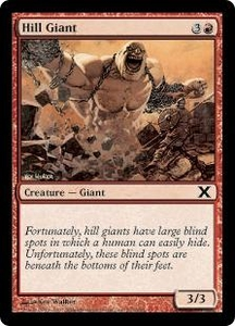 Magic the Gathering Tenth Edition Single Card Common #212 Hill Giant