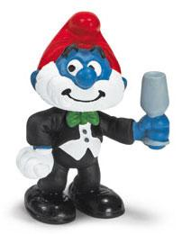 Schleich The Smurfs Mini Figure Papa Smurf in Tails