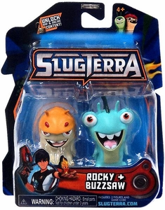 Slugterra Mini Figure 2-Pack Hop Rock & Buzzsaw [Includes Code for Exclusive Game Items]