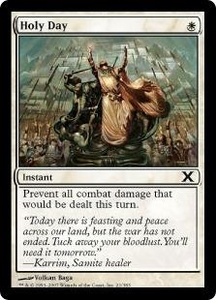 Magic the Gathering Tenth Edition Single Card Common #21 Holy Day