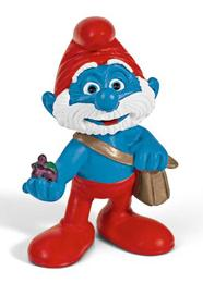 Schleich The Smurfs Mini Figure Papa Smurf with Bag