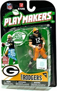 McFarlane Toys NFL Playmakers Series 1 Action Figure Aaron Rodgers (Green Bay Packers)