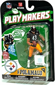 McFarlane Toys NFL Playmakers Series 1 Action Figure Troy Polamalu (Pittsburgh Steelers)