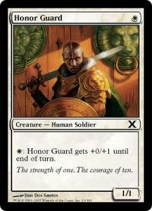 Magic the Gathering Tenth Edition Single Card Common #23 Honor Guard