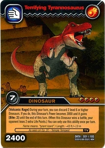 Dinosaur King Time Warp Adventures Single Card Gold Foil DKTA-001 Terrifying Tyrannosaurus