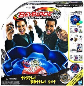 Beyblades Metal Masters Triple Battle Set [Includes 2 Exclusive Attack Tops]