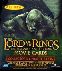Topps Lord of the Rings Fellowship of the Ring Movie Collector's Update Edition Trading Cards Box