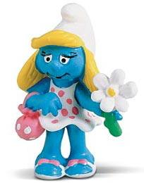 Schleich The Smurfs Mini Figure Smurfette with Flower