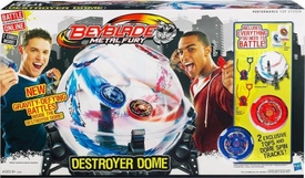 Beyblades Metal Fury Performance Top System Destroyer Dome [2 Exclusive Tops & Dome Spin Tracks!]