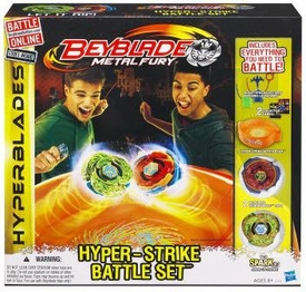 Beyblades Metal Fury Hyperblades Hyper-Strike Battle Set