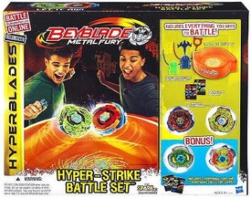 Beyblades Metal Fury Hyperblades Hyper-Strike Battle Set [2 Bonus Tops & Cards]