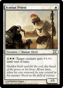 Magic the Gathering Tenth Edition Single Card Uncommon #24 Icatian Priest