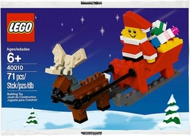 LEGO Seasonal Set #40010 Santa with Sleigh [Bagged]