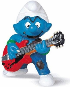 Schleich The Smurfs Mini Figure Lead Guitar Player