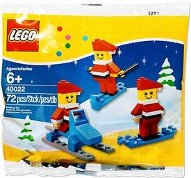 LEGO Mini Figure Set #40022 Mini Santa 3-Pack [Bagged]