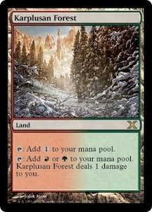 Magic the Gathering Tenth Edition Single Card Rare #354 Karplusan Forest