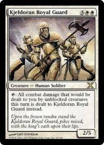 Magic the Gathering Tenth Edition Single Card Rare #25 Kjeldoran Royal Guard