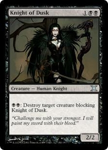 Magic the Gathering Tenth Edition Single Card Uncommon #152 Knight of Dusk