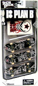 Tech Deck 96mm Skateboard 3-Pack with Stickers Plan B [Colin McKay, Danny Way & Ryan Gallant]