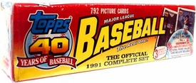 1991 Topps Baseball Cards Factory Sealed Set