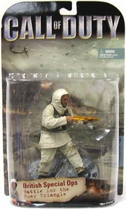 McFarlane Toys Call of Duty Action Figure British Special Ops [Battle for the Roer Triangle] Gold Mark II Sten Gun Variant RARE!