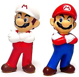 New Super Mario Brothers BanPresto Mini PVC Mario Set (Fire Mario & Mario)