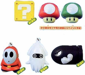 Super Mario Brothers 6 Piece Capsule Toy Set