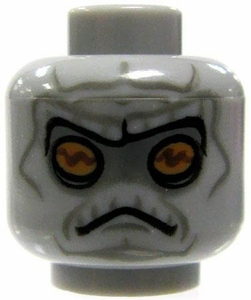 LEGO LOOSE HEAD Gray with Alien Features