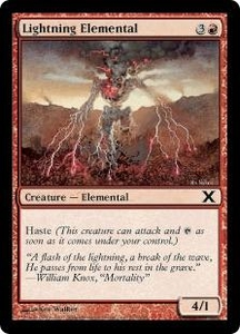 Magic the Gathering Tenth Edition Single Card Common #217 Lightning Elemental