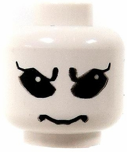 LEGO LOOSE HEAD White Head with Big Black Eyes