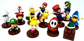 Furuta Super Mario Collection Series 3 Set of 13 Mini 2 Inch PVC Figures [Includes Luigi & Variant Mario!]